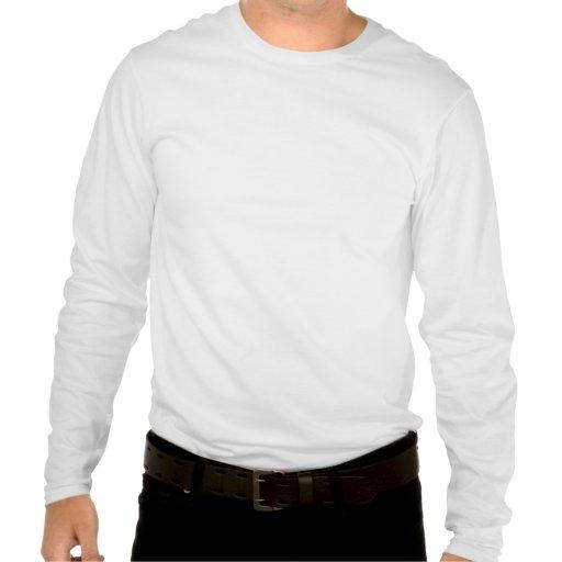 Manga larga de la gente corta camisetas