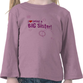 Manga larga de la hermana grande camisetas