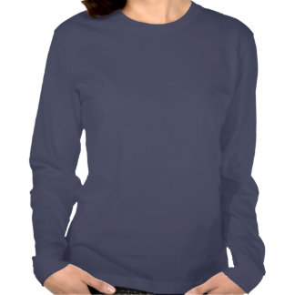 Manga larga de la insignia al mérito de las señora camisetas