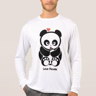 Manga larga de la Micro-Fibra de Panda® del amor Camisetas
