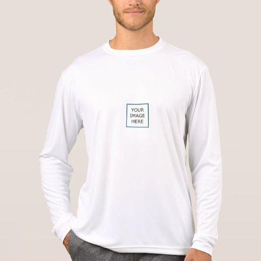 Manga larga de la Micro-Fibra del funcionamiento Camisetas