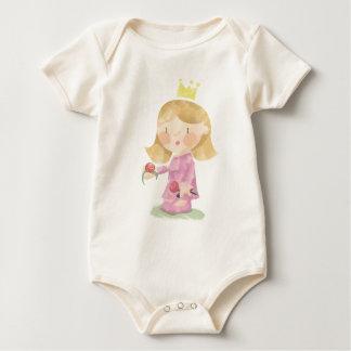 Manga larga de la pequeña princesa mamelucos