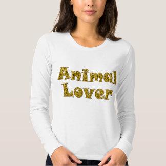 Manga larga de las señoras animales del amante camisas