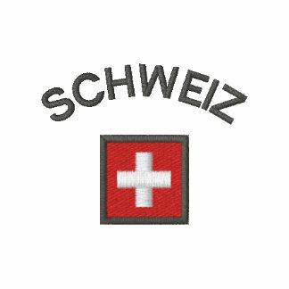 Manga larga de Schweiz con la bandera del bolsillo