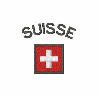Manga larga de Suisse con la bandera del bolsillo