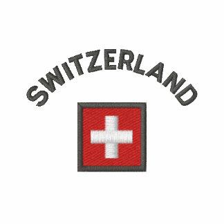 Manga larga de Suiza con la bandera suiza del