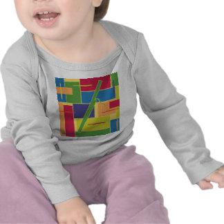 Manga larga del bebé de Colorblocks del Bassoon Camiseta