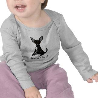 Manga larga del bebé - Squeek la chihuahua Camiseta
