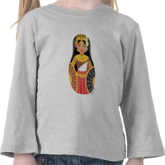 Manga larga del chica del niño camboyano de Matryo Camisetas