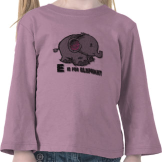 Manga larga del elefante camiseta