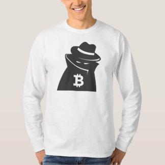 """Manga larga del """"individuo sombrío"""" de Bitcoin Playera"""