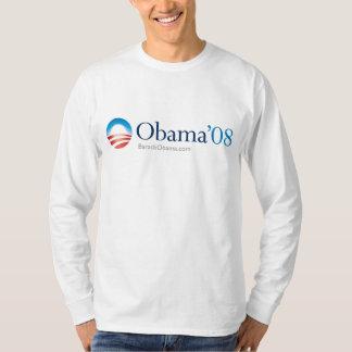 Manga larga del logotipo de Obama 08 Playera