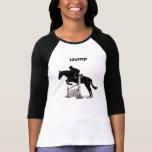 Manga larga del puente del caballo del iJump de la Camiseta