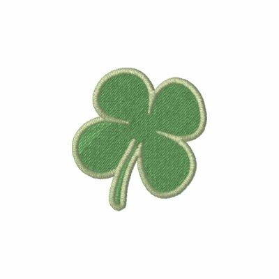 Manga larga del St. Patricks del trébol NEGRO del