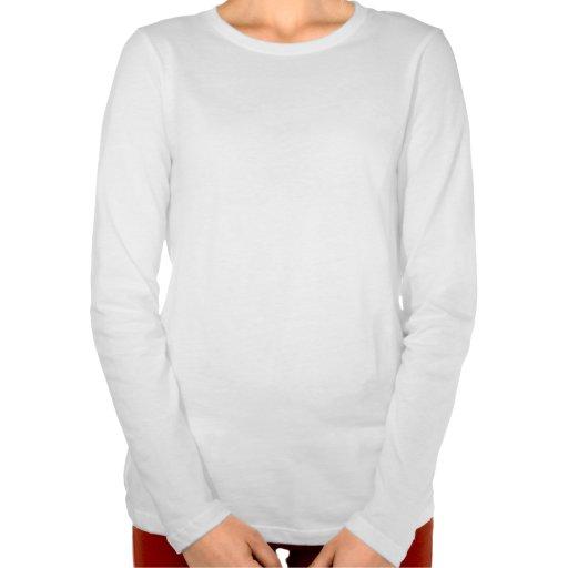 Manga larga del tamaño extra grande de las señoras camisetas