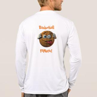 Manga larga fanática del baloncesto camiseta