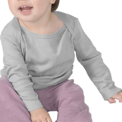 Manga larga infantil camiseta