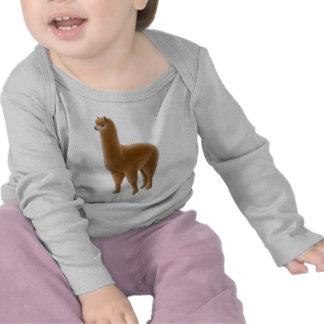 Manga larga infantil de la alpaca amistosa de Brow Camiseta
