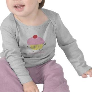 Manga larga infantil de la magdalena de la camiseta