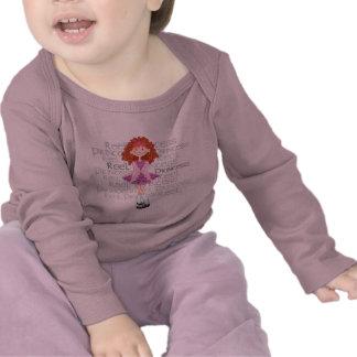 Manga larga infantil del Redhead del carrete Camiseta