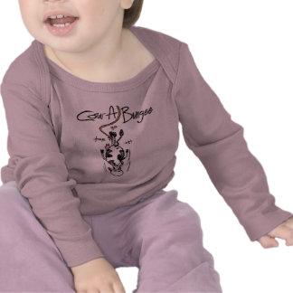 Manga larga infantil del Vaca-UNO-Amortiguador Camiseta