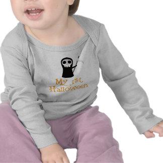 Manga larga infantil linda, estilo de Halloween Camiseta