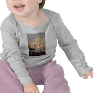 Manga larga infantil T del Taj Mahal Camisetas