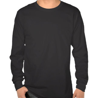 Manga larga oscura básica de la frontera final camisetas