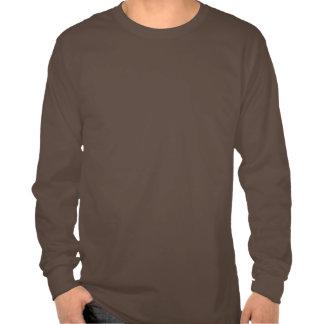 Manga larga oscura T de la paz del vegano Camiseta