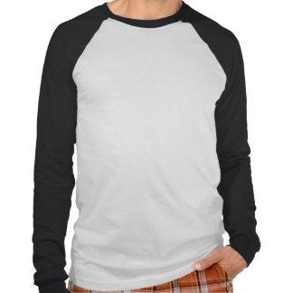 Manga larga Reglan del borde recto Camiseta