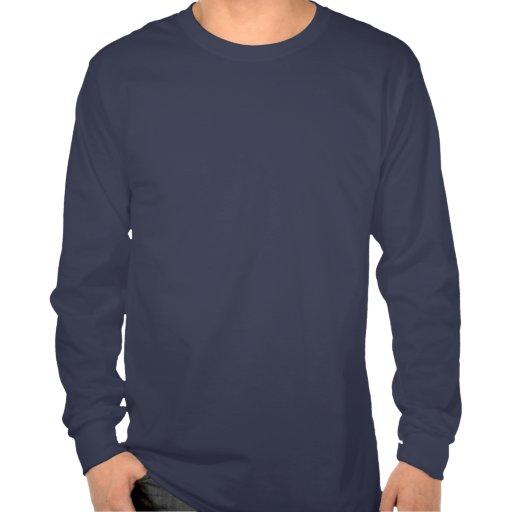 Manga larga T del tipo del castor de TFR (oscura) Camisetas