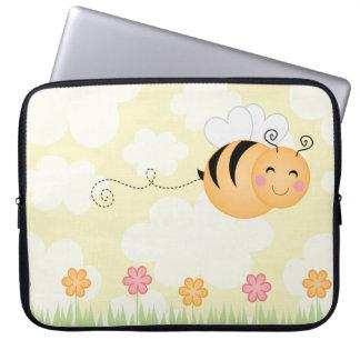Manga linda de la abeja del dibujo animado y del o fundas portátiles