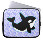 Manga linda del ordenador portátil de la ballena d fundas ordendadores