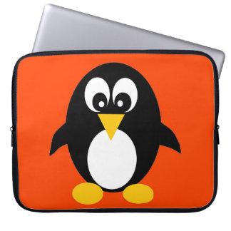 Manga linda del ordenador portátil del pingüino manga portátil