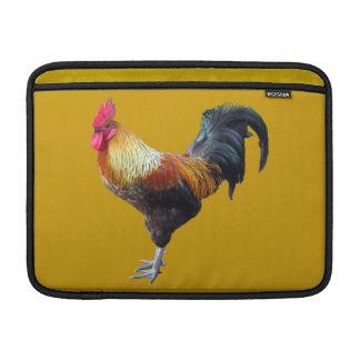 Manga llana del carrito del gallo funda para macbook air