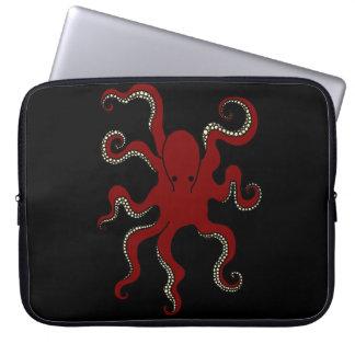 Manga llana del ordenador portátil del pulpo funda portátil