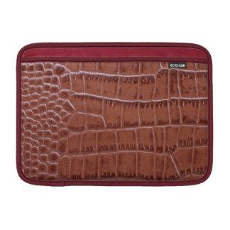 Manga marrón de lujo del carrito del cuero del coc fundas para macbook air