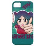 Manga Meisje dat aanmoedigd iPhone 5 Case-Mate Hoesje
