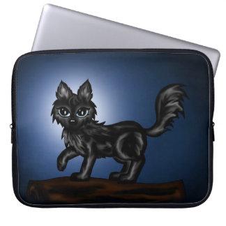 manga negra del ordenador portátil del lobo del ch fundas computadoras