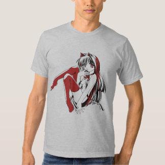 "Manga Neko Catgirl Pinup girl ""LooselyBasedOn"" T Shirt"