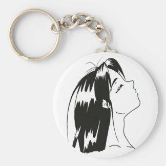 manga noir&blanc keychain