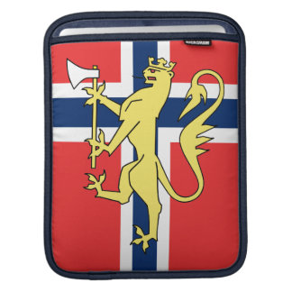 Manga noruega del carrito del escudo de armas de l manga de iPad