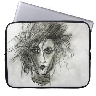 Manga oscura del ordenador portátil del dibujo del funda computadora