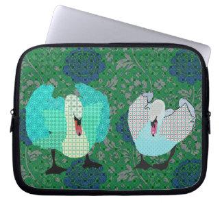 Manga ostentosa del ordenador del rosa verde del a mangas portátiles