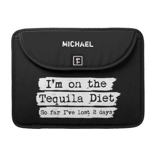Manga personalizada dieta del carrito del Tequila Funda Para Macbook Pro