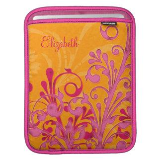 Manga personalizada floral anaranjada rosada del i