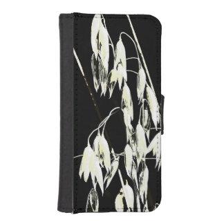 Manga protectora monocromática del grano de avena fundas tipo cartera para iPhone 5
