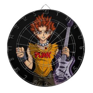 Manga Punk Guitar Player Dart Board