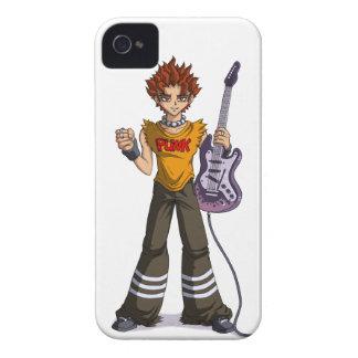 Manga Punk Guitar Player iPhone 4 Case-Mate Case