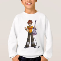 Manga Punk Guitar Player Sweatshirt